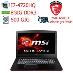لپ تاپ استوک Msi مدل GE722QC