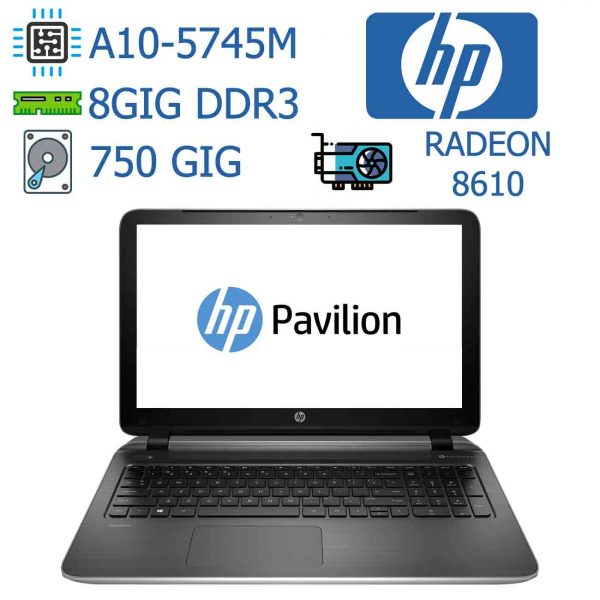 لپ تاپ استوک دست دوم ارزان HP مدل Pavilion 15 مناسب دانش آموز و دانشجو و برنامه نویس