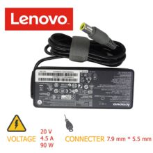 شارژر لپ تاپ ۹۰w 20v*4.5A 7.9mm*5.5mm LENOVO