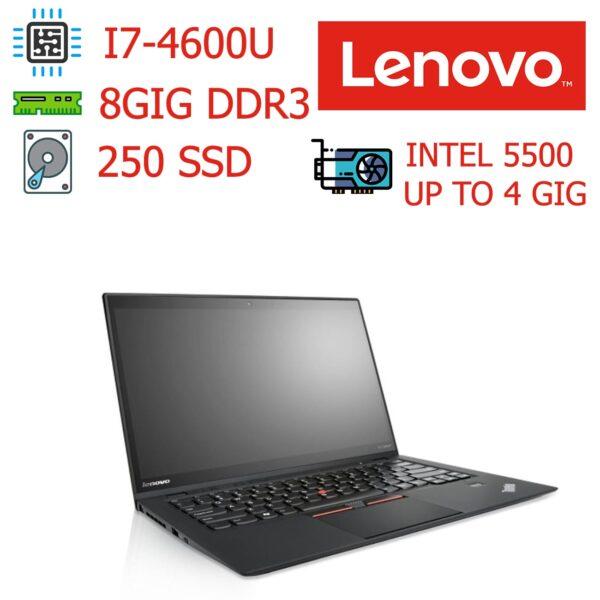 لپ تاپ استوک دست دوم ارزان Lenovo مدل ThinkPad X1 Carbon - مناسب دانش آموزی دانشجویی و برنامه نویسی