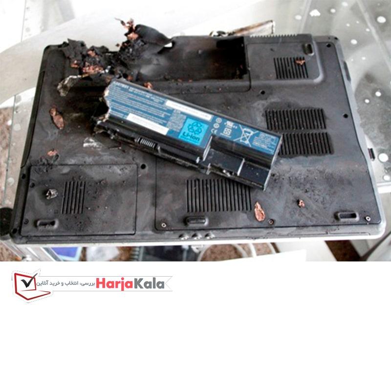 انفجار باتری لپ تاپ - بهرامی مارکت
