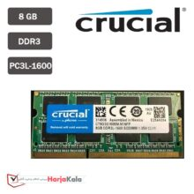 رم لپ تاپ CRUCIAL 8GB DDR3