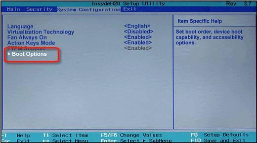 آموزش نصب ویندوز 10 - انتخاب نوع Boot