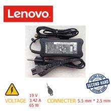 شارژر لپ تاپ ۶۵w 19v*3.42A 5.5mm*2.5mm LENOVO