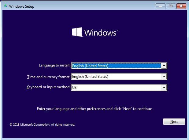 آموزش نصب ویندوز 10 - مراحل نصب ویندوز 10