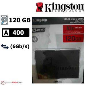 حافظه SSD اینترنال Kingston A400 ظرفیت ۱۲۰ گیگابایت
