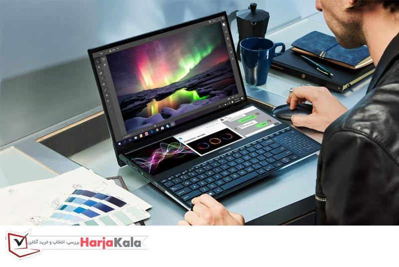 بهترین لپ تاپ ایسوس در سال 2021 - لپ تاپ ایسوس Asus ZenBook Duo ( UX481)